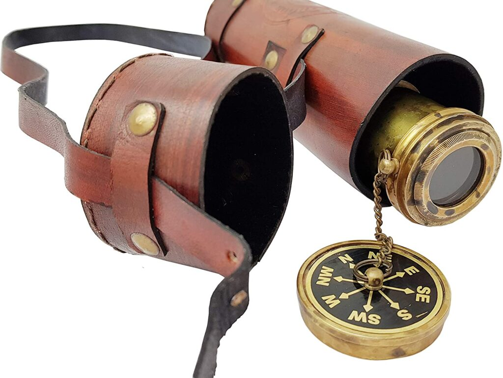Black Antique Nautical-Mart Brass Dollond Londons 18 inches Antique Telescope//Spyglass in Leather Box